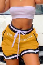 Yellow Fshion Sports Summer Football Shorts W8382-1