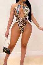 Leopard Print Summer Sexy Print Swimsuits QSS1020