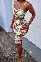 Euramerican Women Condole Belt Top Skirts Sets BYL81200