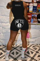 Euramerican Women Trendy Sleeveless Printing Shorts Sets WY6801