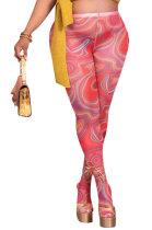 Red Women Sexy Fashion Pattern Printing High Waist Pantihose SDD9518-2