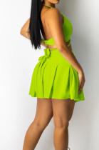Yellow Serxy Sling Halter Neck Strapless Fashion Skirts Sets SZS8080-2