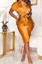 Golden Women Ruffle Bandage T Shirt/Shirt Dress GL6393-3