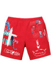 White Flame Women Positioning Printing Pocket Shorts YLY192-5
