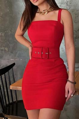 Sheath MIni Dress with Belt HDZ10436
