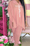 Apricot Euramerican Women Autumn Winter Fashion Sexy Solid Color V Collar Printing Pants Sets YBS86735-3