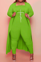 Cyan Green Women Pure Color Strapless Jumpsuits Long Sleeve Coat Plus Two-Pieces HHB4048-5