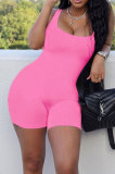 Pink Wholesale New Solid Color Slim Fitting Tank Jumpsuits YSH86243-2