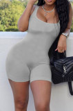 Light Gray Wholesale New Solid Color Slim Fitting Tank Jumpsuits YSH86243-1