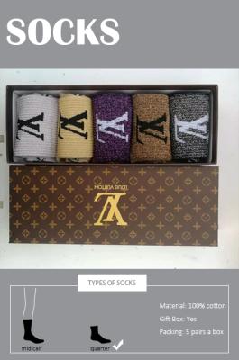 Women's 100% Cotton Quarter Socks(5 pairs a box)
