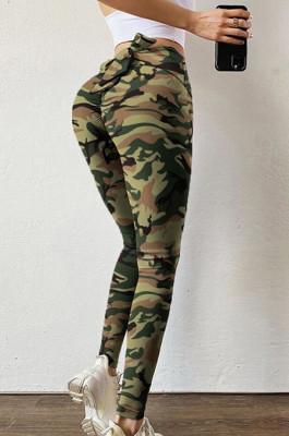 Casual High Waist Bow Print Yoga Pants HYP1008