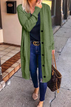 Army Green Fashion Wholesale Long Sleeve Single-Breasted Sweater Cardigan Coat SY8827-1