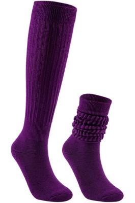 Slouch Socks in Dark Puple