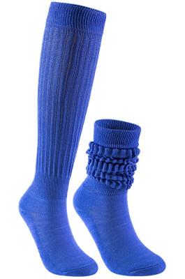 Slouch Socks in Blue