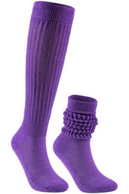 Slouch Socks in Light Purple