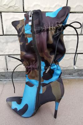 Camo Drawstring Boots