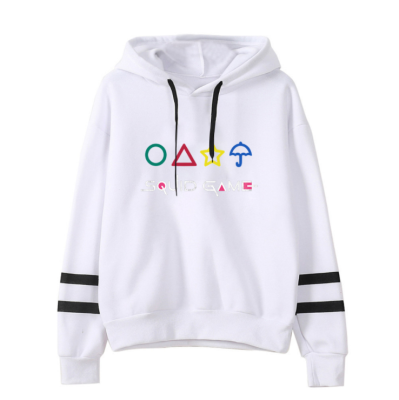 White Squid Game Parallel Bars Hoodie Tops Unisex HYC10542-1