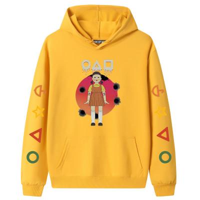 Yellow Squid Game Fleece Casual Pullover Hoodie Tops Unisex PBQY20201125-2