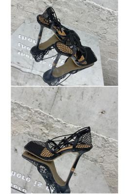 Women's Stiletto Lace Up Heels in Black