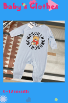 Bear Jointly Signed 100% Cotton Baby One Piece for 0~12 month (size run small)