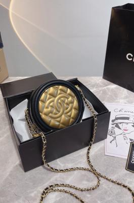 Gold Tone Clutch Bag( gift box packing)