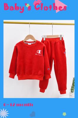 Kid's Velvet Embridered Parrot Pants Set