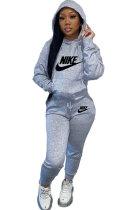 Euramerican Women Hoodie Fleece Printing Fashion Pants Sets HFY71150