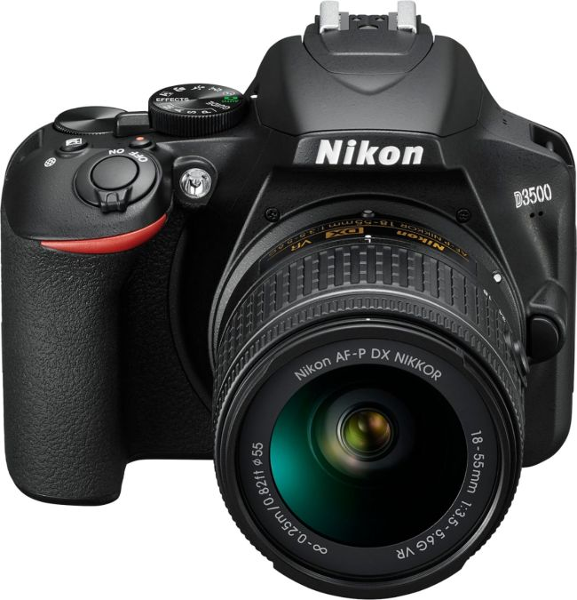 D3500 DSLR Video Two Lens Kit with AF-P DX NIKKOR 18-55mm f/3.5-5.6G VR & AF-P DX NIKKOR 70-300mm f/4.5-6.3G ED - Black