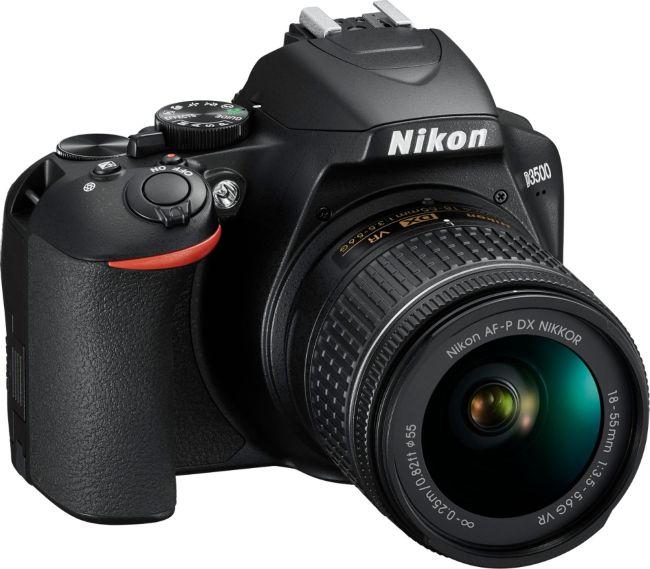 D3500 DSLR Video Camera with AF-P DX NIKKOR 18-55mm f/3.5-5.6G VR Lens - Black