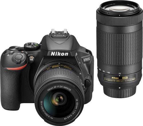 D5600 DSLR Video Two Lens Kit with 18-55mm and 70-300mm Lenses - Black