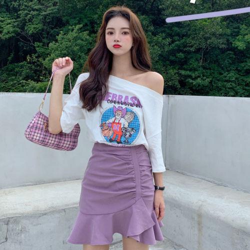 【Aeqpw's獨家】套裝女春夏時尚學生寬松T恤顯瘦半身裙子兩件套女網紅ins套裝裙