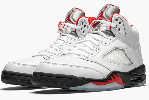 "Air Jordan 5 Retro ""Fire Red Silver Tongue 2020"""