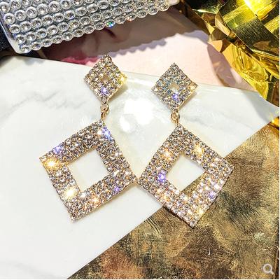 Us 799 00 Temperament Advanced Geometric Diamond Earrings Simple Fashion Cool Fashion Fashion Versatile Earrings M Shop123123 Com
