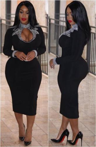 Fashion casual health cloth hot rhinestone nightclub skirt dress LZ716