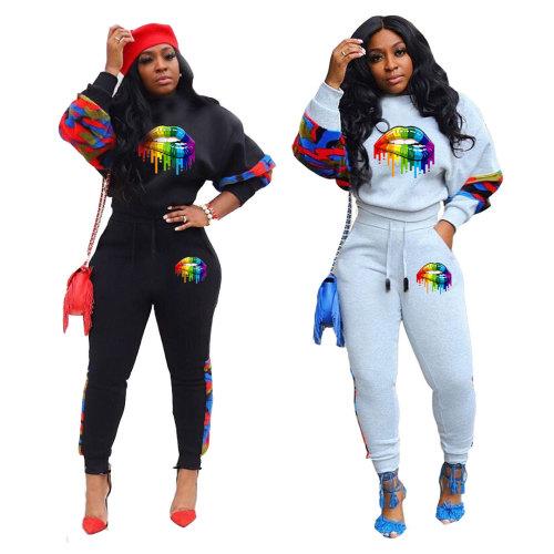 Long Sleeve Hoodie Women Sport Pants Casual Outfits LYY9223