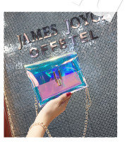 Laser transparent small square bag woman XS003