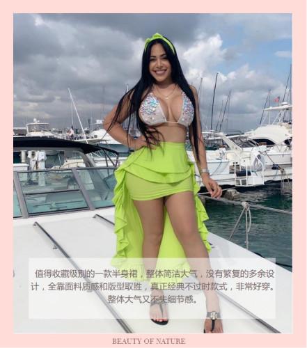 Sexy street trendy irregular skirt skirt skirt TY1080