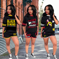 HOT-HOT Printing T-Shirt Women Shorts Street Style Outfits MA6221