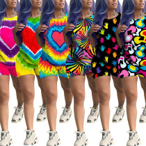 Casual Tie-Dye 2 Pieces Colorful Outfits For Daily Wear MA6211