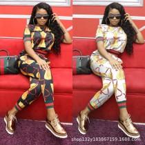 Fashion Pattern Printing Women 2 Pieces Sets MDF-5001