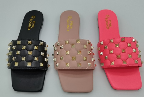 Xiangfeng square head sandals and slippers BY9244
