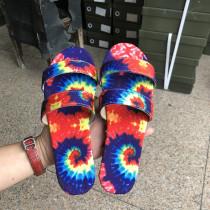 Women's camouflage low heel sandals and slippers women HWJ106