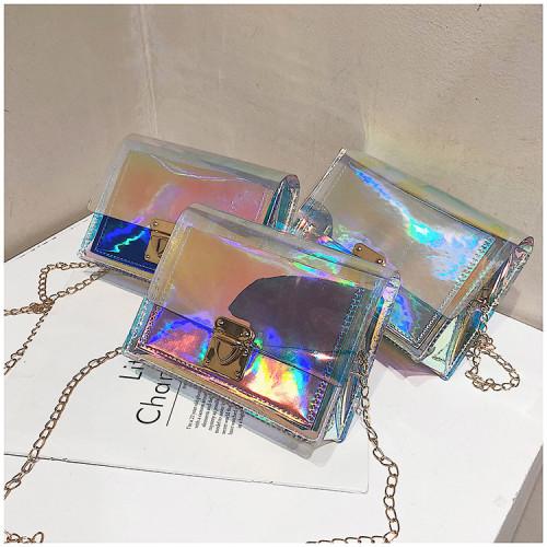 Laser Transparent Interlock Small Square Baonu ZX123
