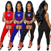 Women's fashion sexy sleeveless jumpsuit YY5175
