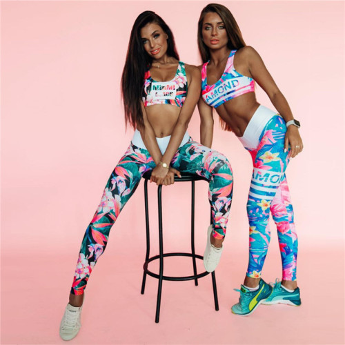 Fashion 3D Printing Yoga Exercise Suit S1730622