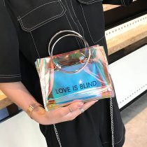 Transparent jelly bag ladies handbag two-piece shoulder Messenger bag YXS8975