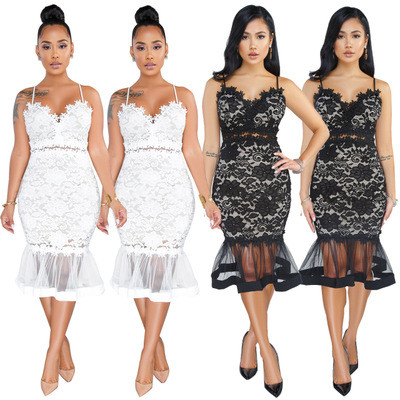 Womens Sheer Mesh See Through Bodycon Party Dress Q218