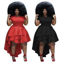 Elegant Solid Color Irregular Party Dress For Women YZ1716