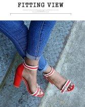 Women's open-heeled buckle sandals ZH8528