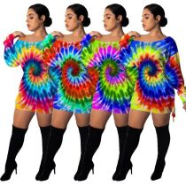 Cute sports tie-dye dress MTY6291